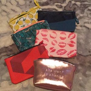 Ipsy Assorted makeup bags